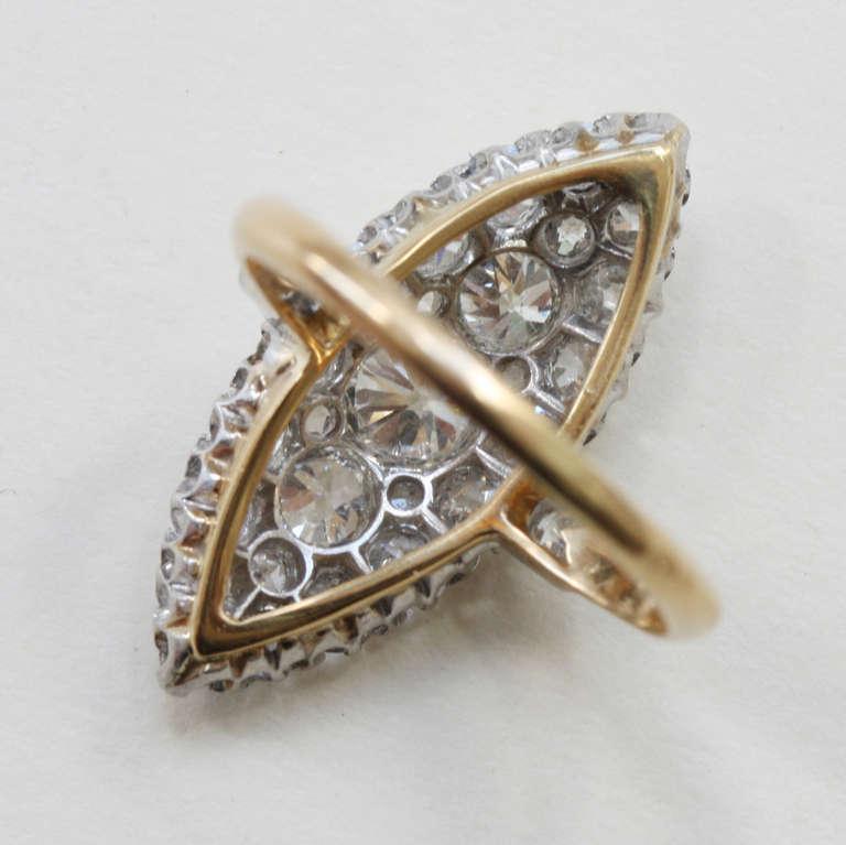 Diamond Marquise Shaped Edwardian Ring 4