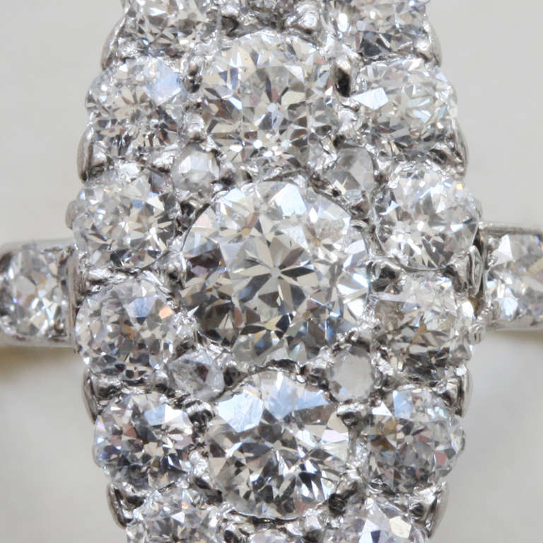 Diamond Marquise Shaped Edwardian Ring 6