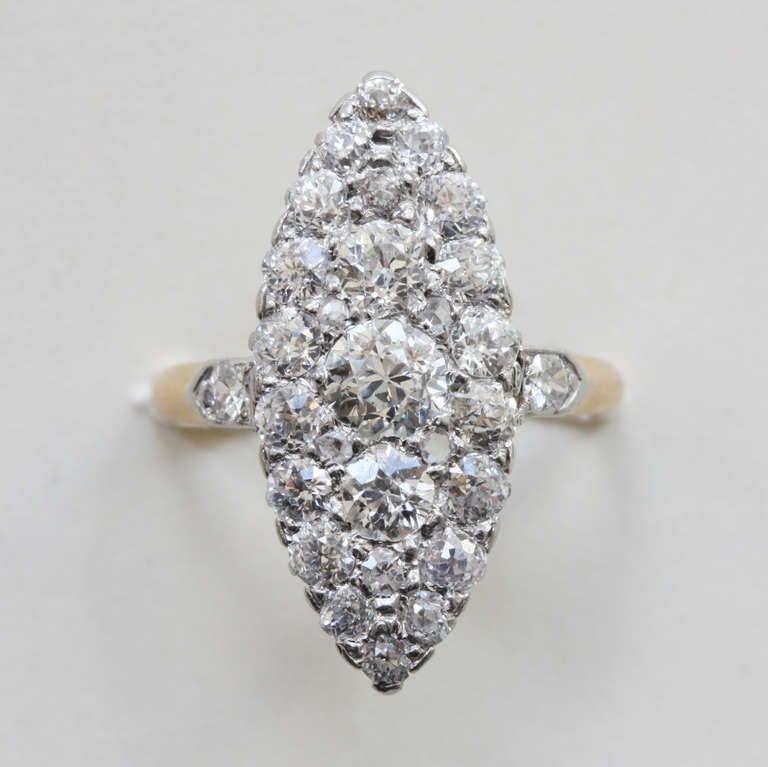 Diamond Marquise Shaped Edwardian Ring 2