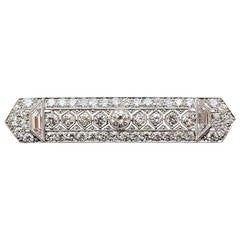 Tiffany & Co. Diamond Platinum Bar Brooch