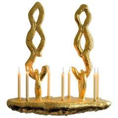 Casimir 2009 gilded aluminum candlestick