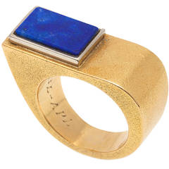 Cartier Asymmetrical Lapis Gold Ring