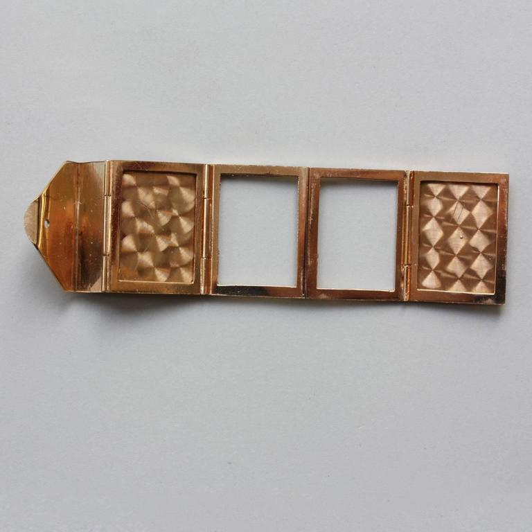 Women's or Men's Gold Six-Way Envelop Locket For Sale