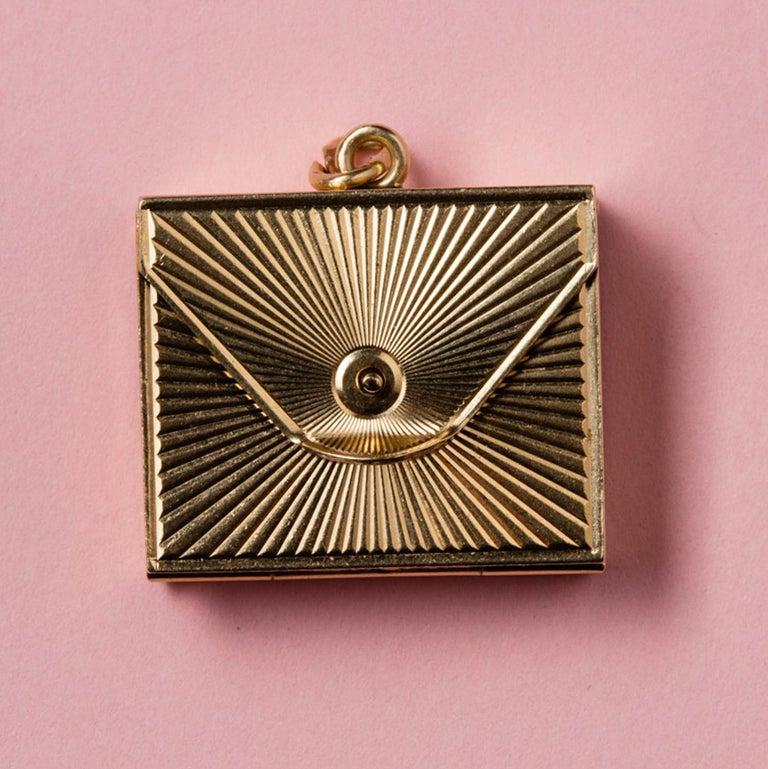 Gold Six-Way Envelop Locket For Sale 1