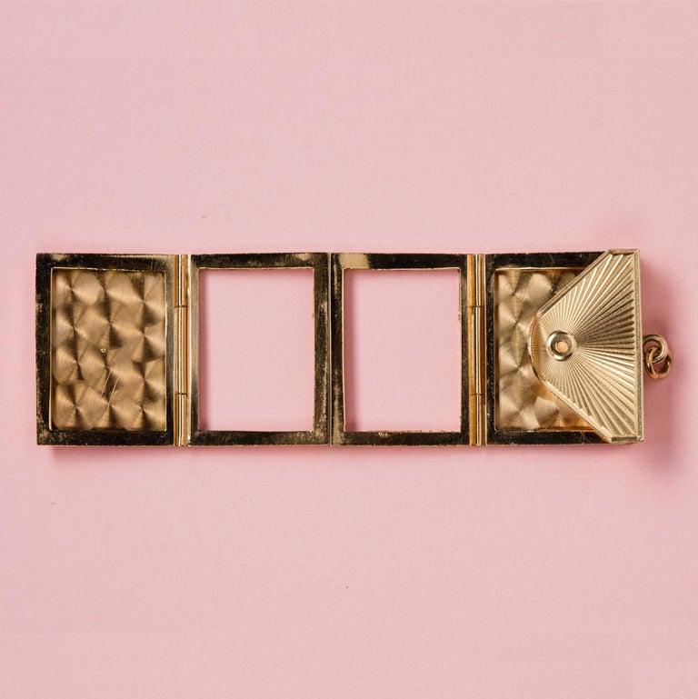 Gold Six-Way Envelop Locket For Sale 4