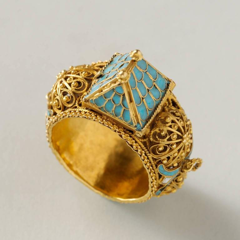 Important Jewish Marriage Ring 6