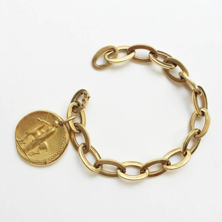 Van Cleef & Arpels Virgo Zodiac Pendant on a Gold Bracelet 2