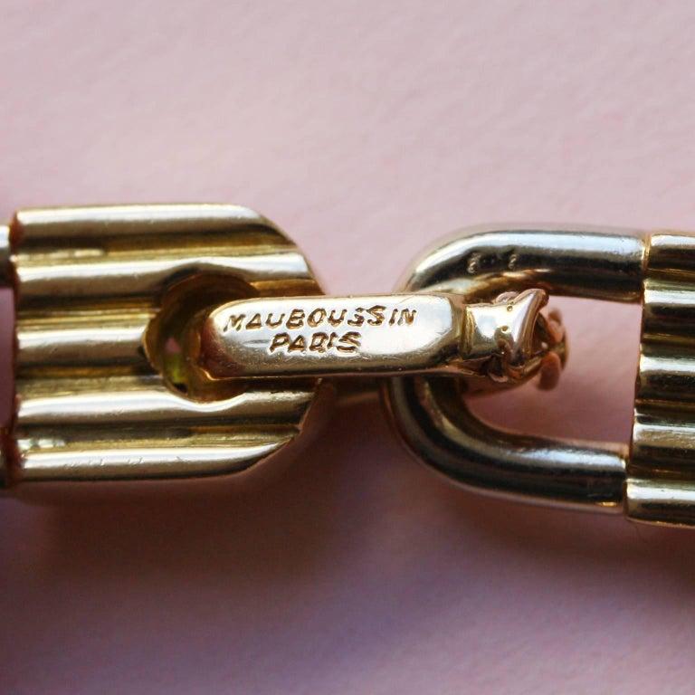 Mauboussin Bi-Color Gold Lock Bracelet For Sale 1