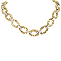 Rope Link Necklace With Diamonds