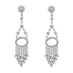 1.23 Carat Diamond Tassel Earrings