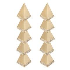 Multi Deco Rombus Diamond Earrings