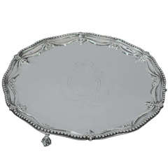 George III Salver - Neoclassical - English Sterling Silver - 1777