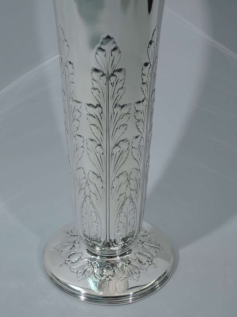 Tiffany Vase Large With Acanthus Leaves American