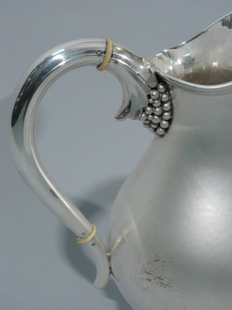 Danish Modern Sterling Silver Water Pitcher in Jensen Style For Sale 2