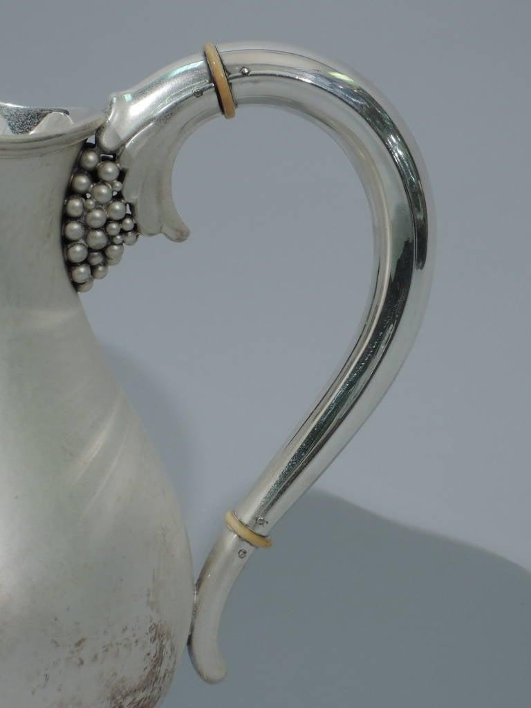 Danish Modern Sterling Silver Water Pitcher In Jensen
