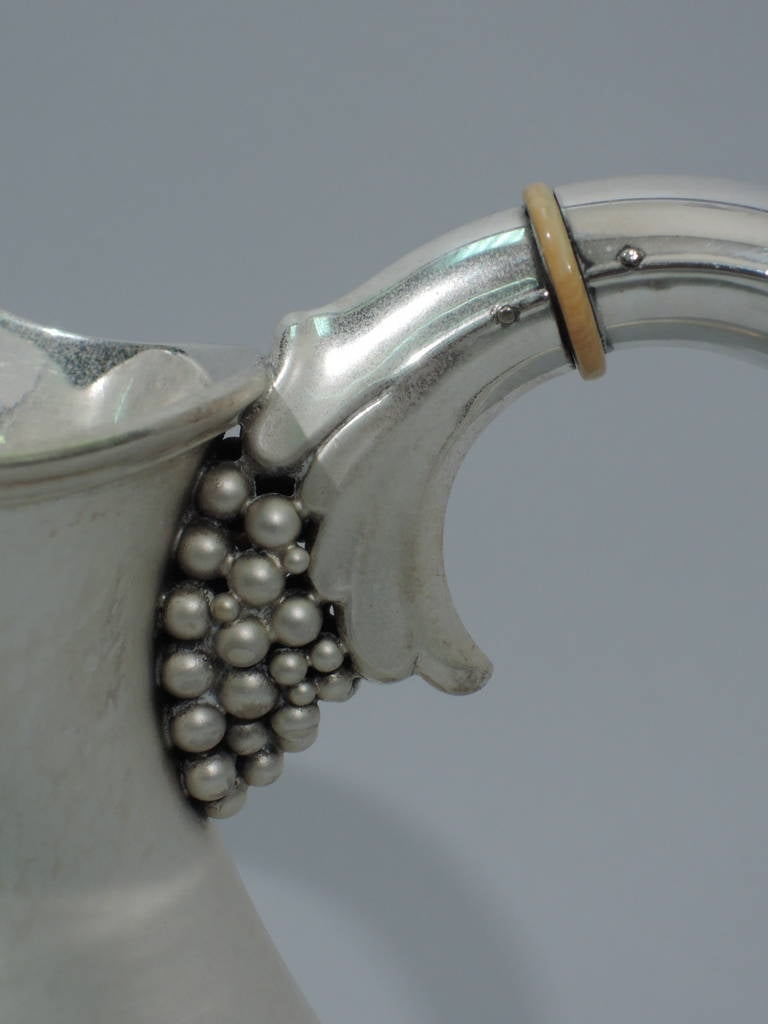 Danish Modern Sterling Silver Water Pitcher in Jensen Style For Sale 4