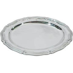 Tiffany Platter - Round Serving Tray - American Sterling Silver - C 1924