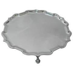 Tiffany & Co. Georgian Charles Stuart Harris English Sterling Silver Salver