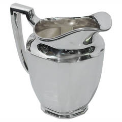 Art Deco Water Pitcher by Tiffany & Co. - American Sterling Silver - C 1914