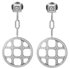 Cartier Pasha De 18 Karat White Gold Diamond Earrings