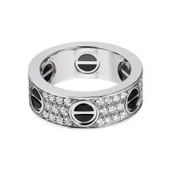 Cartier Love Ring, Diamond-Paved, Ceramic White Gold