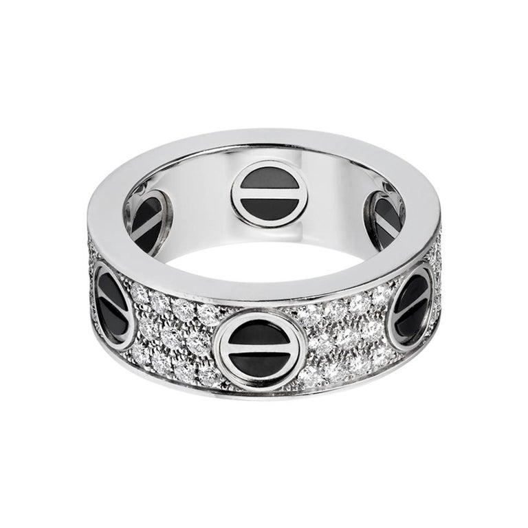 Cartier Love Ring, Diamond-Paved, Ceramic White Gold