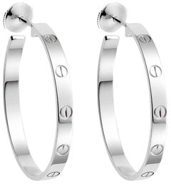 Cartier 18 Karat White Gold Love Earrings