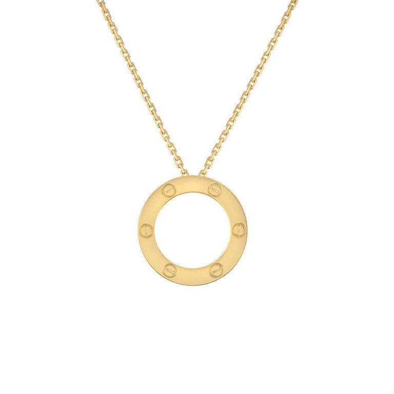 Cartier 18 Karat Yellow Gold Love Necklace