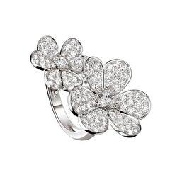 Van Cleef & Arpels Frivole between the Finger Ring, White Gold, Diamond