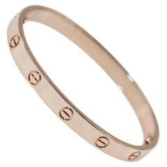 Cartier 18 Karat Rose Gold Love Bracelet