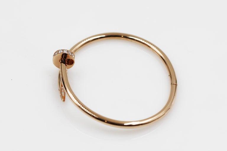 Cartier Juste Un Clou 18 Karat Pink Gold Bracelet With Diamonds For