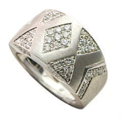 Andreoli 2 Carat 18 Karat White Gold Diamond Band Ring
