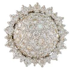 3.75 Carat Diamond Cocktail Ring 14 Karat White Gold