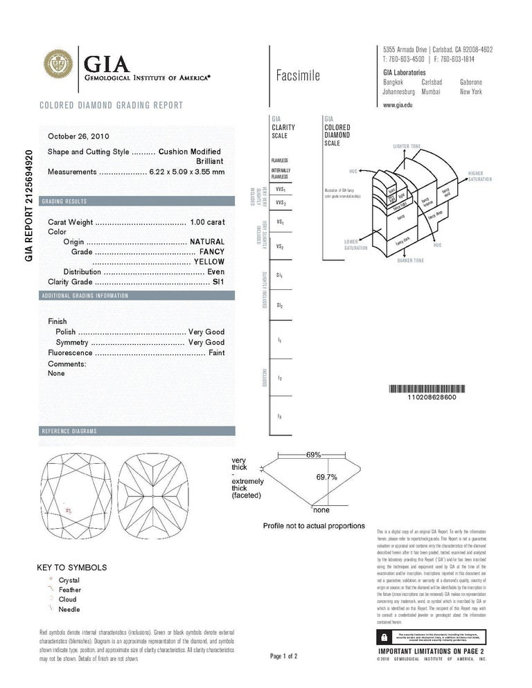 Women's GIA Certified 1.00 Carat Natural Fancy Diamond Cluster Ring in 18 Karat Gold For Sale