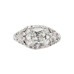 Edwardian 1.76 Carat Antique Engagement Ring