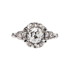 Art Deco 1.21 Carat Diamond Engagement Ring