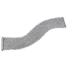 29.37 Carat Diamond Cashmere Bracelet