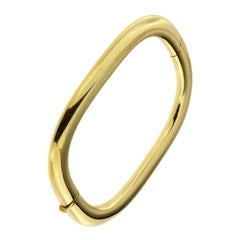 18 Karat Yellow Gold Rigid Cuff Bracelet