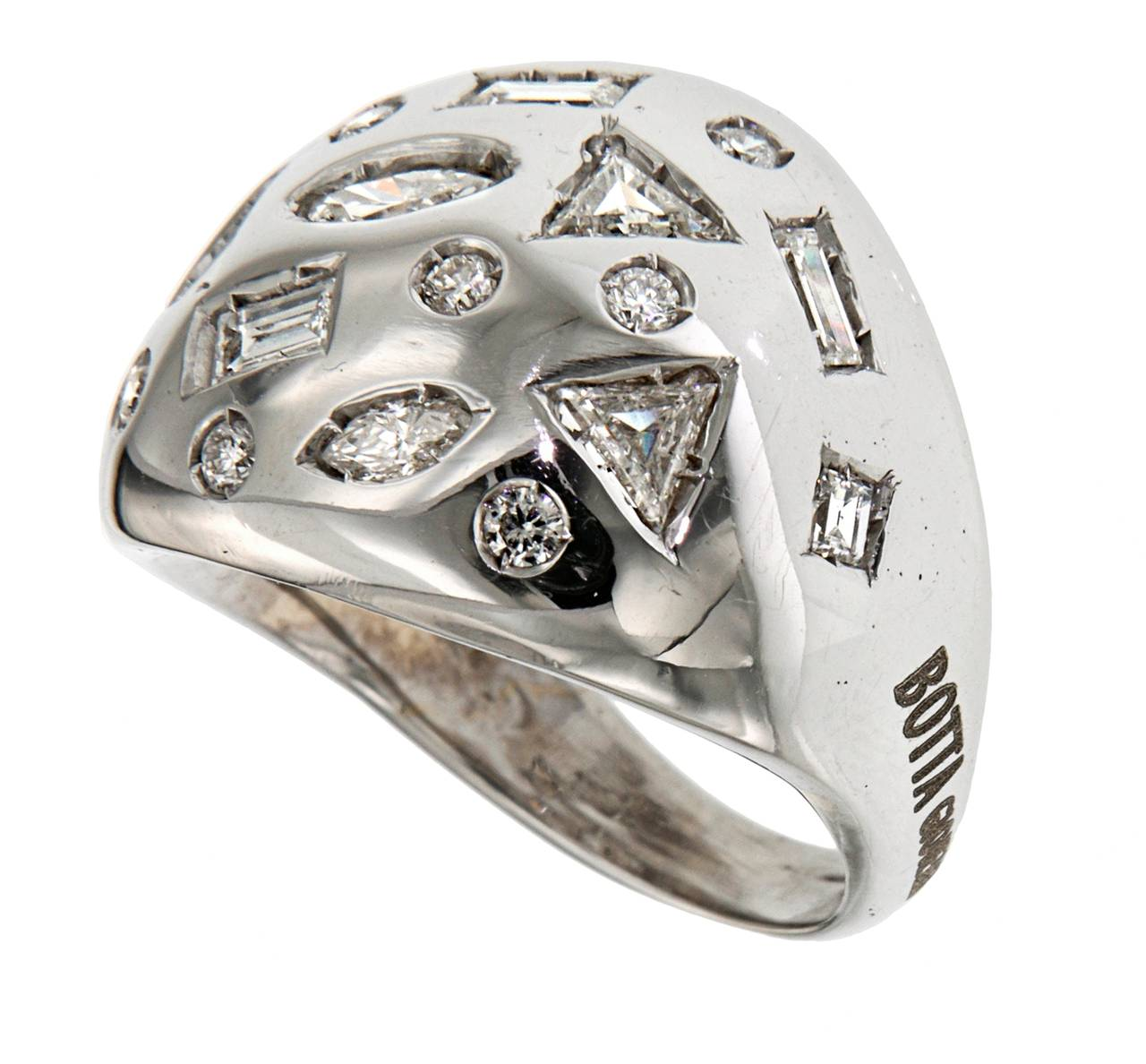 diamonds white gold cocktail ring modern for sale at 1stdibs