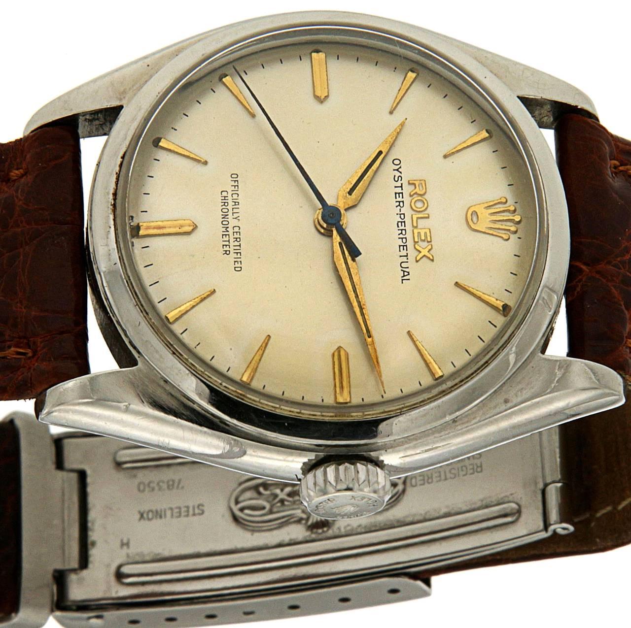 Rolex Stainless Steel Oyster Wristwatch Ref 6084 3