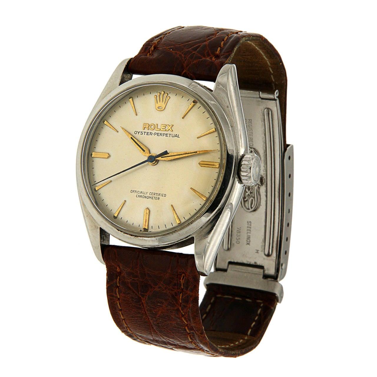 Rolex Stainless Steel Oyster Wristwatch Ref 6084 2
