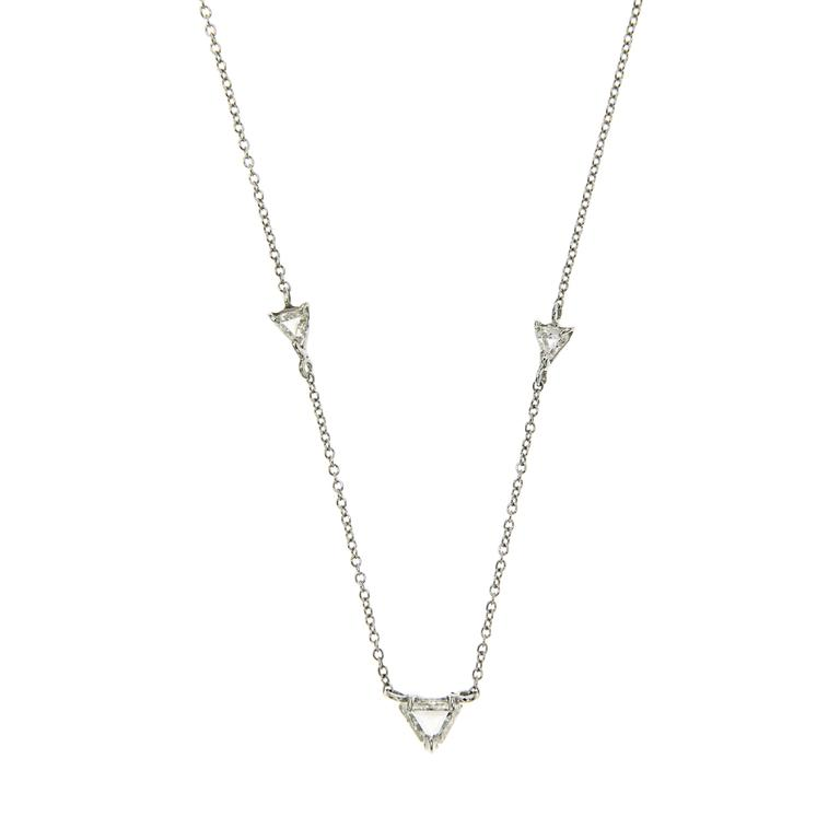 Diamond Necklace White Gold Modern