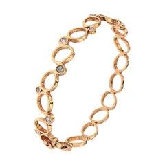 Diamonds 18 Carat Rose Gold Bracelet Modern Design