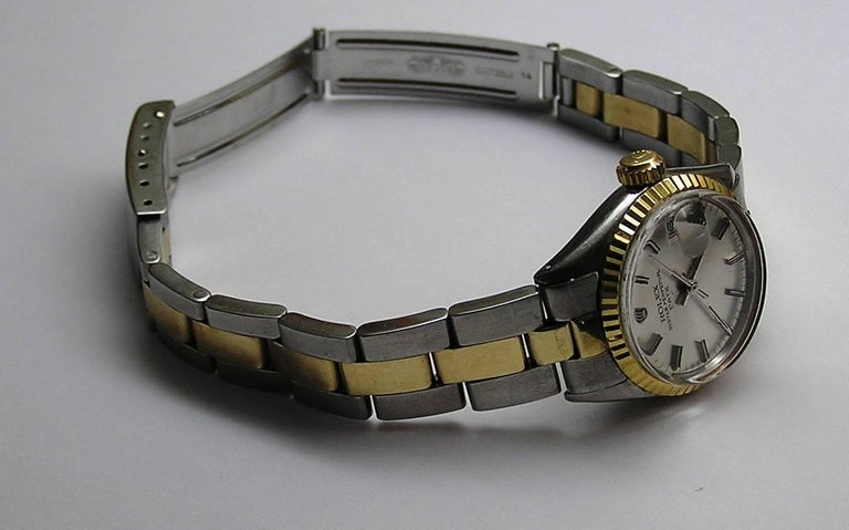 Rolex Lady's Yellow Gold Stainless Steel Date Automatic Wristwatch Ref 6517 6