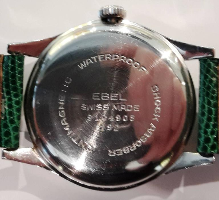 Antique Ebel Stainless Steel Sport Wristwatch In Good Condition For Sale In Milano, IT