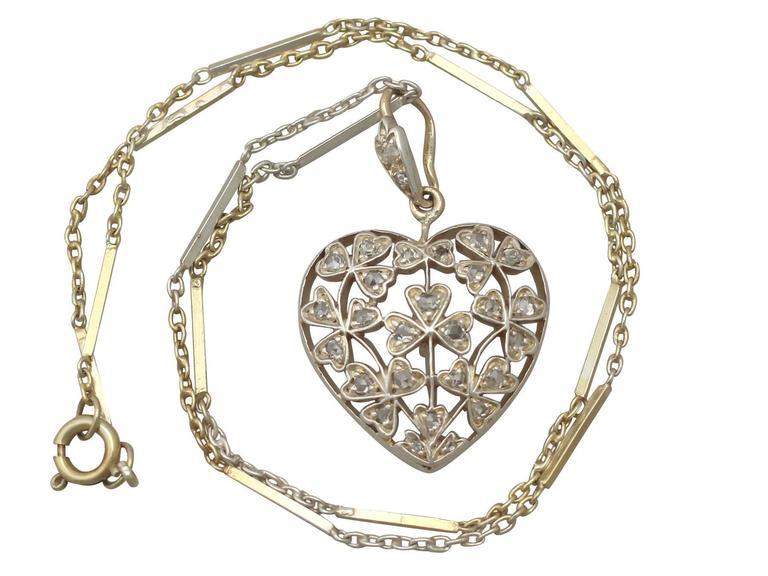 Antique Victorian 0.70 Carat Diamond and 12k Yellow Gold Pendant 2
