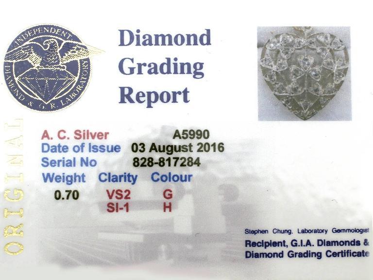 Antique Victorian 0.70 Carat Diamond and 12k Yellow Gold Pendant 6