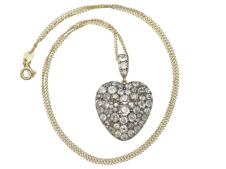 Antique victorian 795 carat diamond and yellow gold heart antique victorian 795 carat diamond and yellow gold heart pendant 2 aloadofball Choice Image