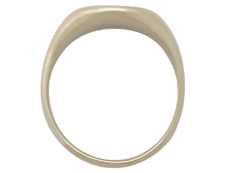 1950s Yellow Gold Signet Ring  For Sale 1