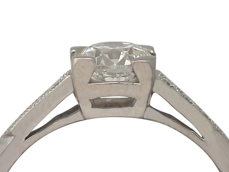 Contemporary 2000s 0.70 Carat Diamond and Platinum Solitaire Ring 2